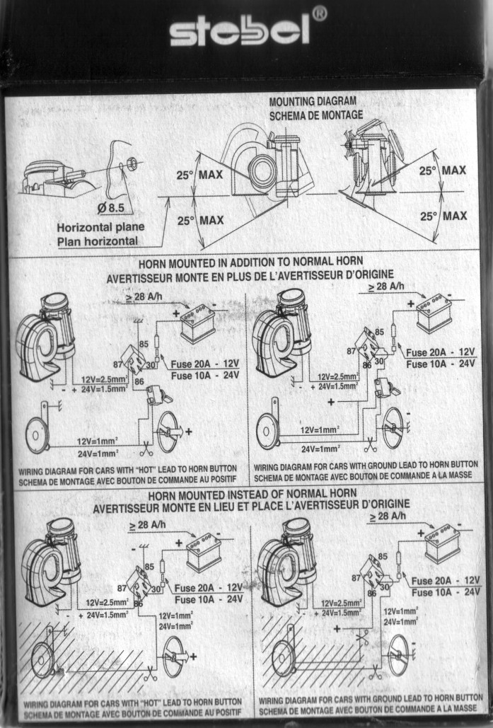 Stebel 300Hz Horn Installation reduced louder horn for cj? page 2 clubcj the cj lancer club musical air horn wiring diagram at soozxer.org